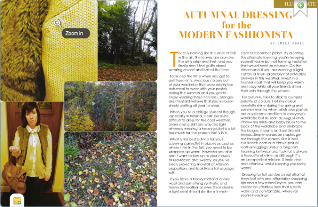 Submission for November 2012 on dressing for Autumn