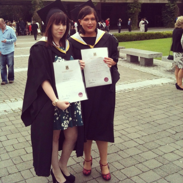 Babs and I with our degree certs!