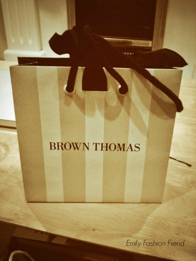 Love these iconic stripy bags from Brown Thomas
