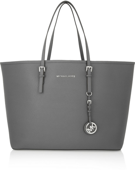 The Michael Kors Jet Set Travel Medium Textured-Leather Tote