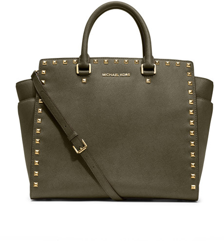 The Michael Kors Large Selma Studded Saffiano Tote