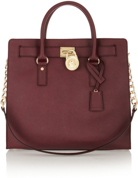 The Michael Kors Hamilton Large Textured-Leather Tote