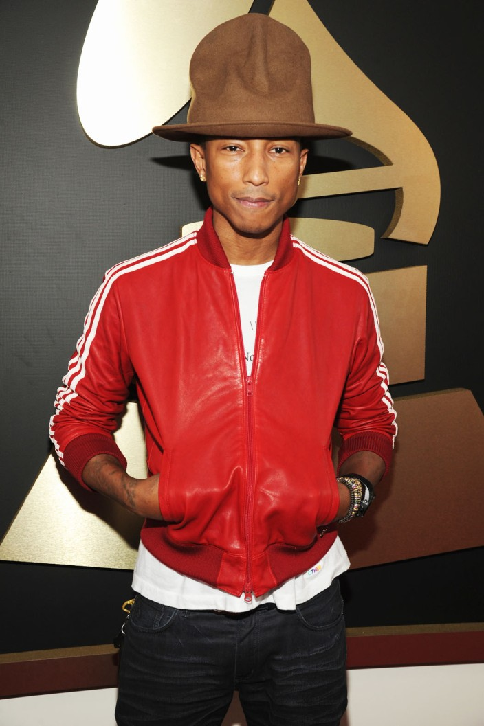 Pharrell and his magic hat!